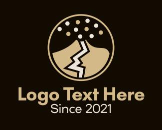 Disaster - Explosive Volcano logo design