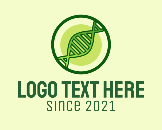 Biotechnology - Green DNA Strand logo design