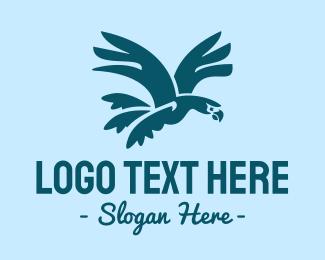 Parrot - Flying Parrot logo design