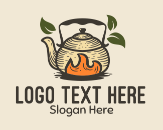 Fire - Hot Kettle Teahouse logo design