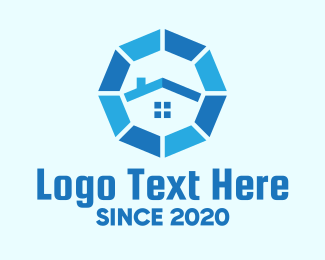 Home Lease - Blue Octagon Home Property logo design