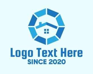 Octagon - Blue Octagon Home Property logo design
