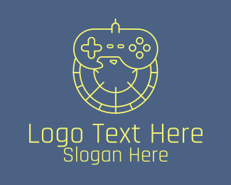 Controller Pad - Joystick Controller Eagle logo design