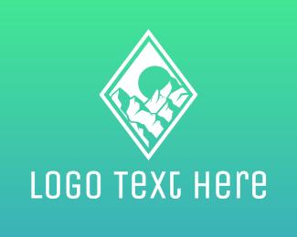 Climbing - Diamond Mountain logo design