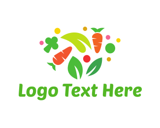 Veggie - Colorful Vegetables logo design