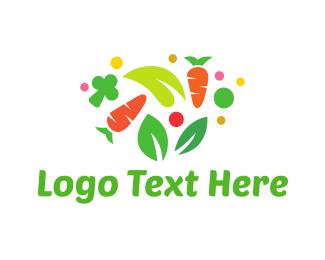 Vegetarian - Colorful Vegetables logo design