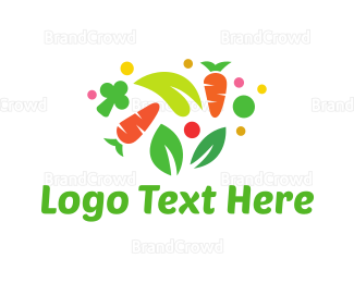 Farm To Table - Colorful Vegetables logo design