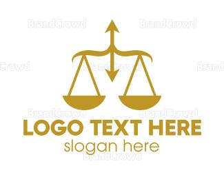 Equilibrium - Arrow Justice logo design