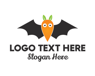 Bat - Carrot Bat  logo design