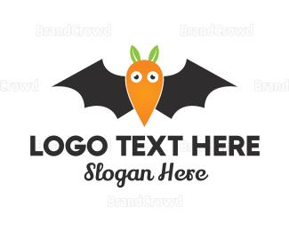 Bat - Carrot Bat  logo design