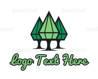 Emerald - Diamond Trees logo design