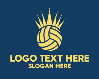 Volleyball Equipment - Volleyball Crown logo design