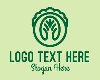 Herb Garden - Green Lettuce Veggie  logo design