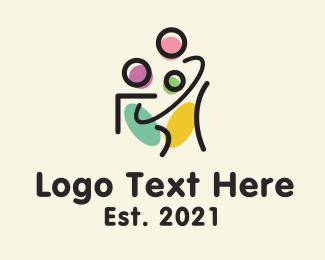 Child - Family Child Adoption logo design