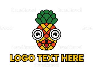 Dietitian - Mosaic Pineapple Face logo design