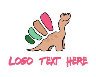 Cartoon - Dinosaur Cartoon logo design