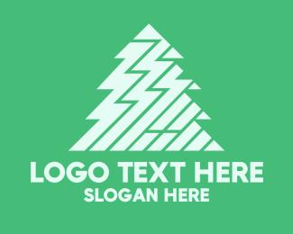 Tree - Zigzag Pine Tree logo design