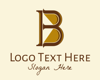 """Golden Brown Serif Letter B "" by FishDesigns61025"