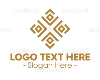 Traditional - Royal Ethnic Textile Pattern logo design