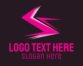 Black And Pink - Electric Pink logo design