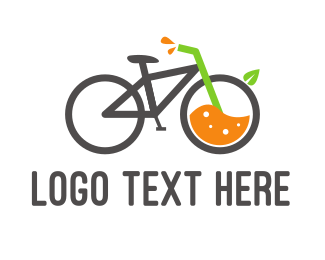 Juice Shop - Bicycle Juice logo design