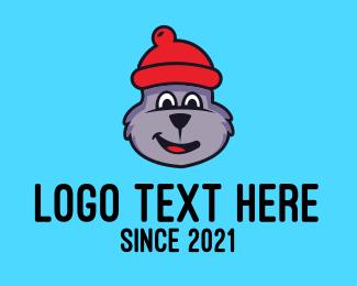 Schnauzer - Cute Bear Bonnet logo design
