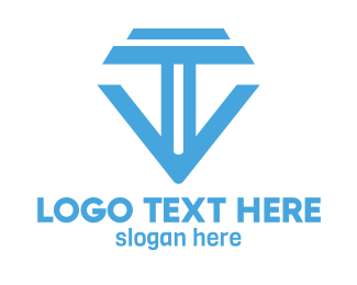 Tv - Blue TV Tech logo design