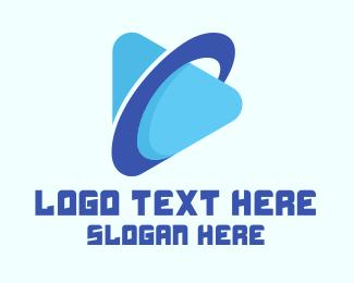 Stream - Planet Streaming Application logo design