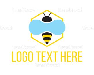 Pest - Honey Bee logo design