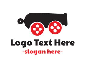 Turret - Cannon Gaming logo design