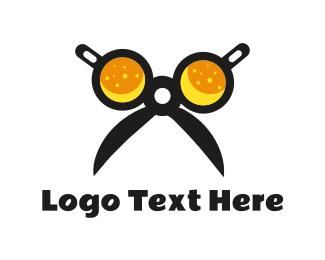 Pub - Beer Scissors logo design
