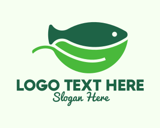 Fingerling - Seafood Fish Salad Bowl logo design
