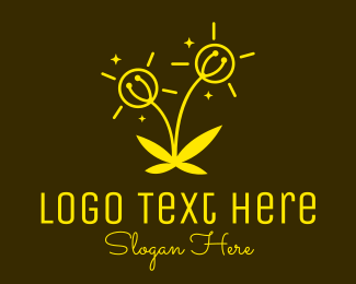 Solar Panel - Electrical Flower Plant logo design