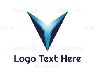 Outer Space - Blue Aero V  logo design