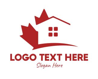 Maple - Canada Maple Housing logo design