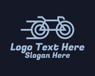 Sports - Fast Bicycle Rider logo design