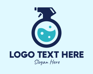Toiletry - Blue Sanitizer Liquid Spray logo design