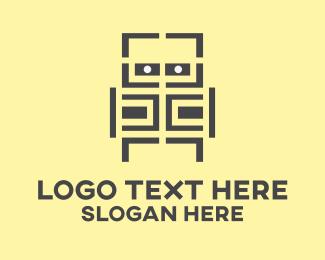 Robot - Maze Robot logo design