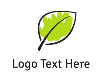 Vegetarian - Green Leaf logo design