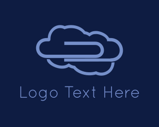 Heaven - Purple Clip Cloud logo design