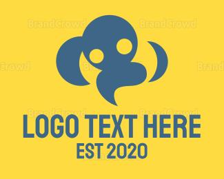 Customer Support - Cloud People logo design