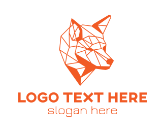 Predator - Mosaic Wolf logo design