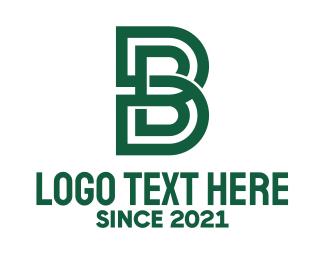 """Green Letter B Maze "" by Mypen"