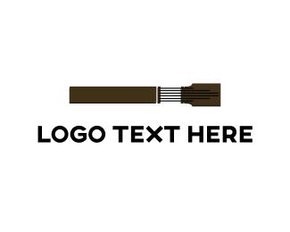 Bass - Guitar Neck logo design