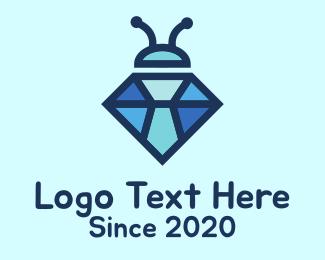 Small - Blue Diamond Bug logo design