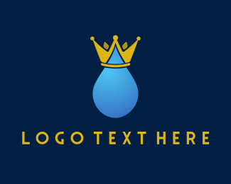 Droplet - Royal Water logo design