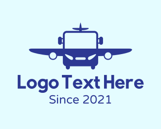Bus - Air Bus logo design