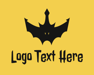Costume Shop - Black Bat Crown logo design
