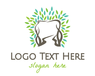 Vine - Tooth Vine logo design