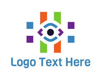 Number Sign - Eye Hashtag logo design